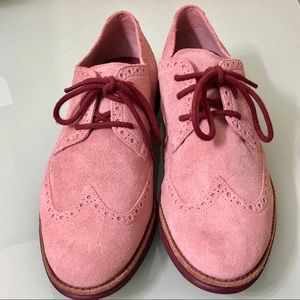 🖤 Cole Haan Lunargrand Pink Suede Shoes